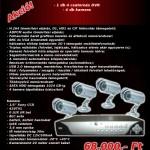 4 csatornás DVR Kit (420TVL) – szerelés nélkül